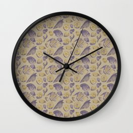 Shells and Shells Wall Clock