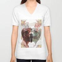 boho V-neck T-shirts featuring SUMMER BOHO by MANDIATO ART & T-SHIRTS