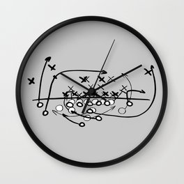 Football Soccer strategy play Diagram  Wall Clock