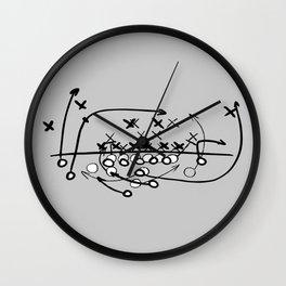 Football Soccer strategy play Diagram  Wall Clock