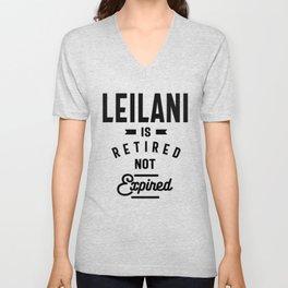 Leilani Personalized Name Birthday Gift Unisex V-Neck