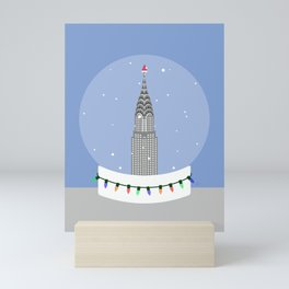 New York City NYC Christmas Snow Globe Mini Art Print