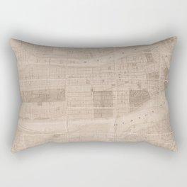Central Park Vintage Map Rectangular Pillow