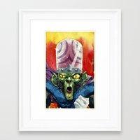 jojo Framed Art Prints featuring Mojo Jojo by Roger Cruz