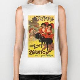 Belle Epoque vintage poster, Olympia, Grand Ballet Biker Tank