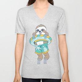 Swim Sloth Unisex V-Neck