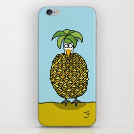 Eglantine la Poule dessed up as a pineapple. iPhone Skin