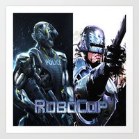 robocop Art Prints featuring Robocop by store2u