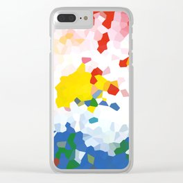 Abstract background red, blue and yellow colors Clear iPhone Case
