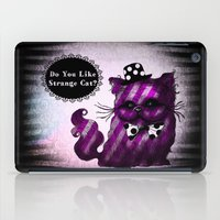 cheshire cat iPad Cases featuring Cheshire Cat by AKIKO