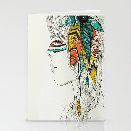 Native Woman Stationery Cards