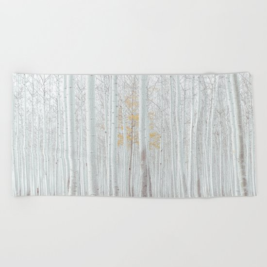 Pale Forest Beach Towel