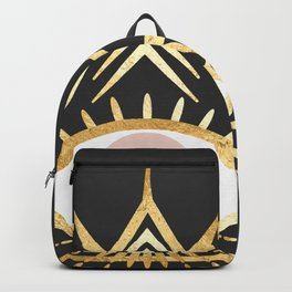 gold foil triangle evil eye Backpack