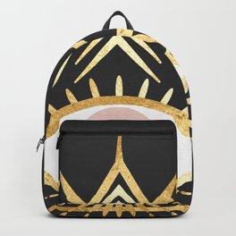 gold foil triangle evil eye Backpack