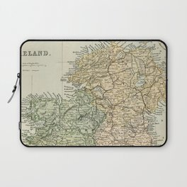 Encyclopedia Retro Map of Northern Ireland Laptop Sleeve