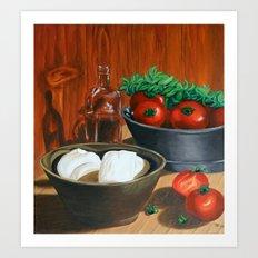 Morzarella And Tomatoes Art Print