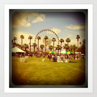 coachella Art Prints featuring Coachella by Jason Chase