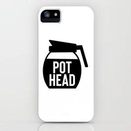 Coffee Pot Head iPhone Case