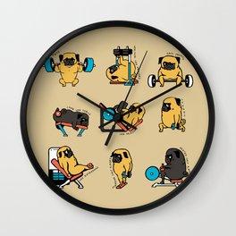 Pug Leg Day Wall Clock