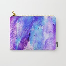 Watercolor hand painted pink teal lavender brushstrokes Carry-All Pouch