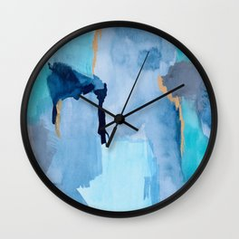 Summer Sky Abstract Wall Clock