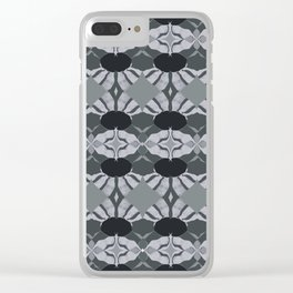 Grey  Values Clear iPhone Case