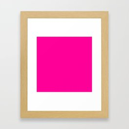 Neon Pink Solid Colour Framed Art Print