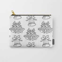 Hand Drawn Black And White Bells Carry-All Pouch