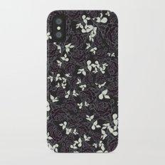 Black Rose Minimalist Pattern iPhone X Slim Case