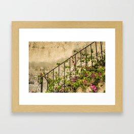 Going up or down? Framed Art Print