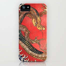 Dragon by Hokusai iPhone Case