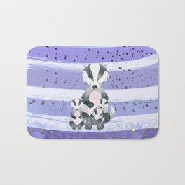 Tones Of Purple Bea Badger - Bagaceous Bath Mat