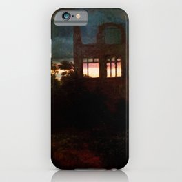 Landscape with castle ruins by Arnold Bocklin iPhone Case