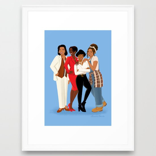 Living Single Khadijah Max Regine Synclaire Framed Art Print By