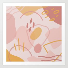 Abstract Shapes in Peach Art Print