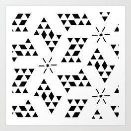 Triangle slide Pattern Art Print