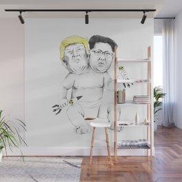 Bad Baby (Donald Trump and Kim Jong Un) Wall Mural