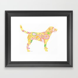 Paisley Yellow Lab Framed Art Print