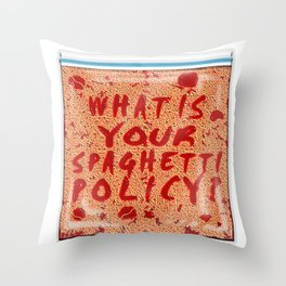 What is your spaghetti policy? -Always Sunny- Fan art Throw Pillow