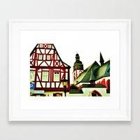 german Framed Art Prints featuring German by Ami Trucci