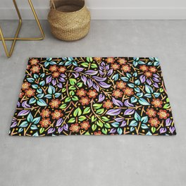 Filigree Floral smaller scale Rug
