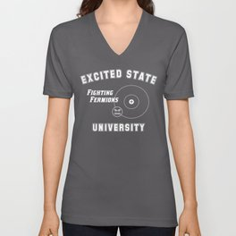 Excited State University and the Fighting Fermions Unisex V-Neck