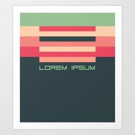 Lorem Ipsum retro colors Art Print