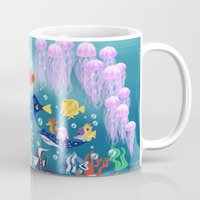 nemo Mugs featuring Sea Wallpainting by princessbeautycase