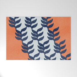 Colorful design with plants Welcome Mat