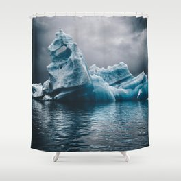 iceberg in iceland Shower Curtain