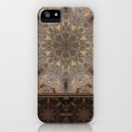 Copper Brown Terracotta Mandala and Tile iPhone Case
