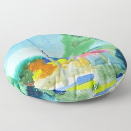 Landscape in Nida,Lithuania Floor Pillow