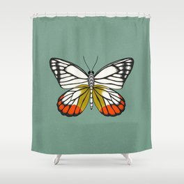 Painted Jezebel Butterfly Shower Curtain