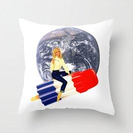 enjoy before it melts Throw Pillow